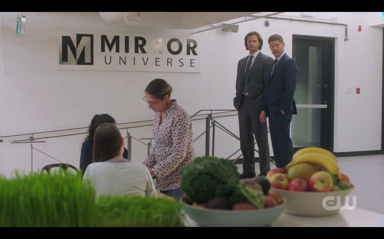 Sam Dean Winchester at Mirror Universe being nerdy SPN 14.20