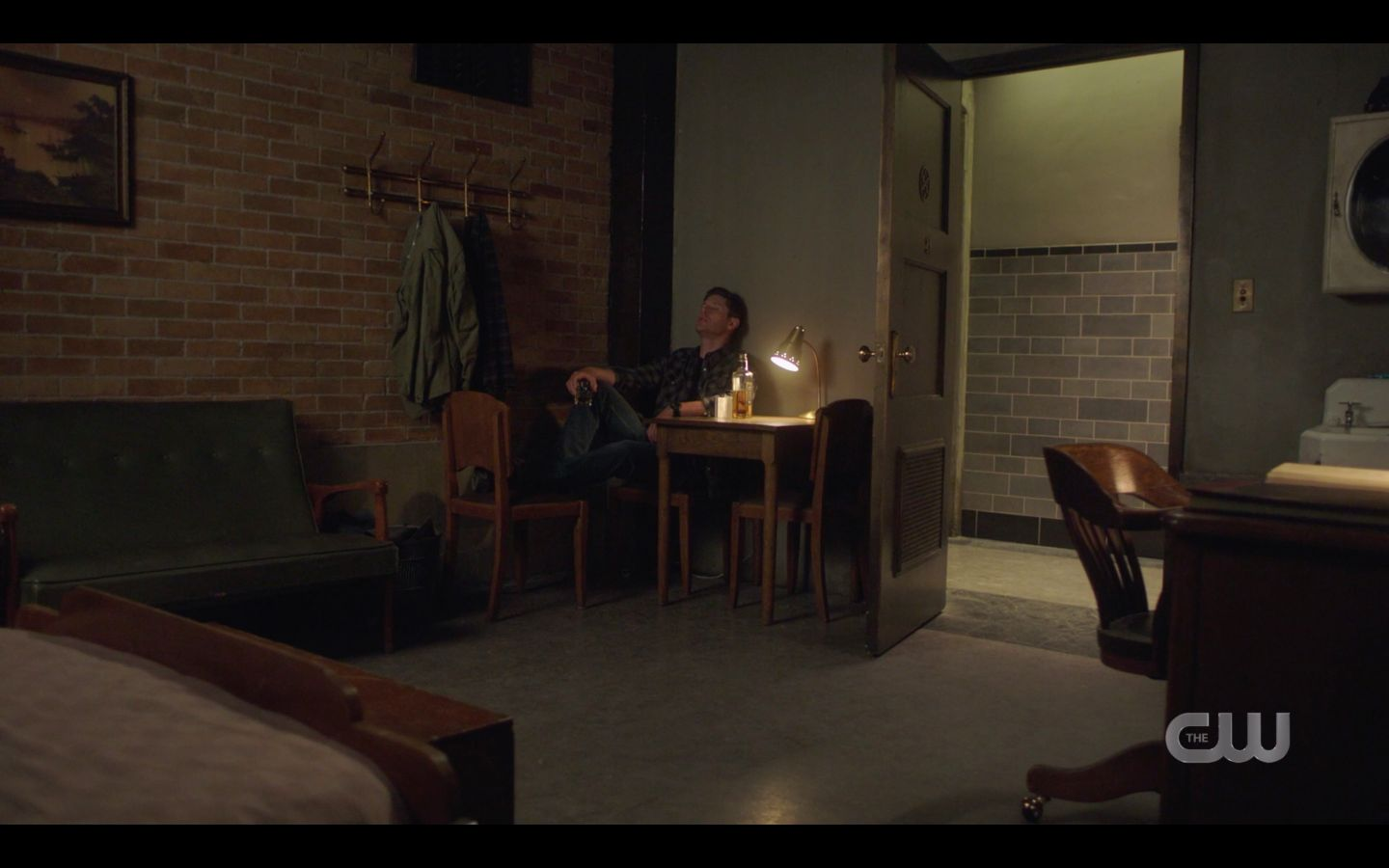 Sam Dean Winchester drinking in dark over mary death and jack SPN 14.20