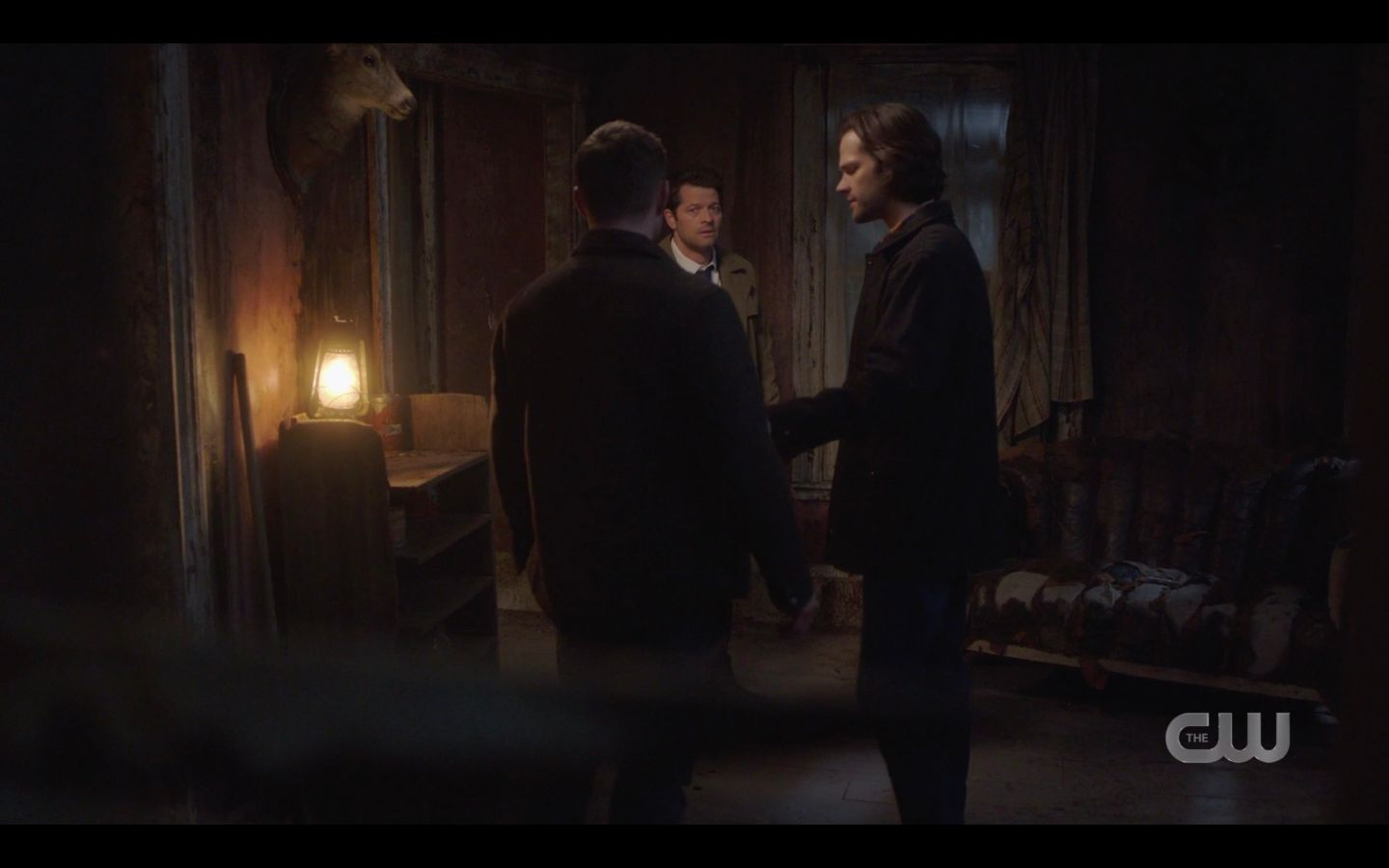 Sam Winchester anguished over Marys death with Cas SPN 14.18