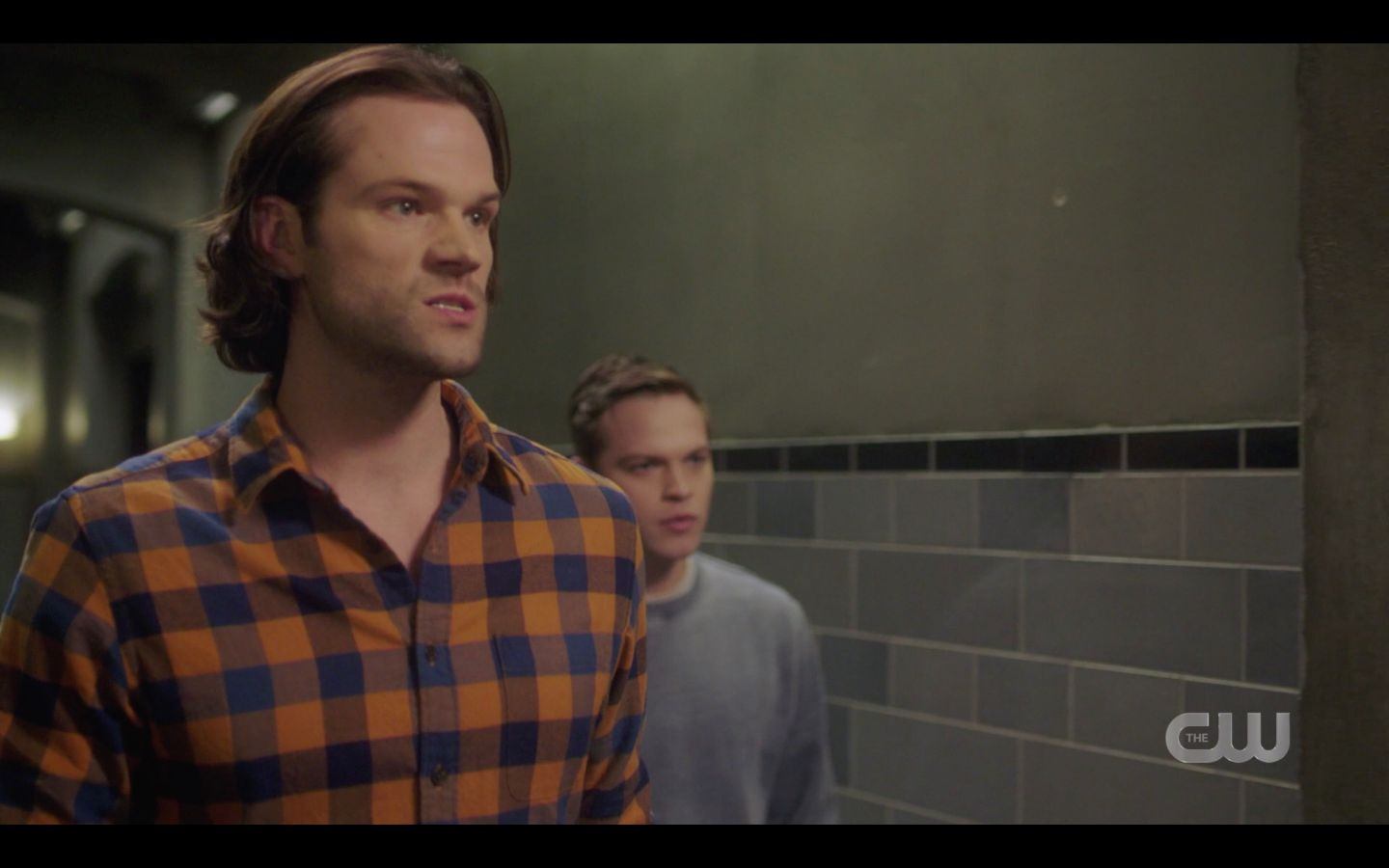 Sam Winchester bares teeth reacting to Nick SPN Game Night