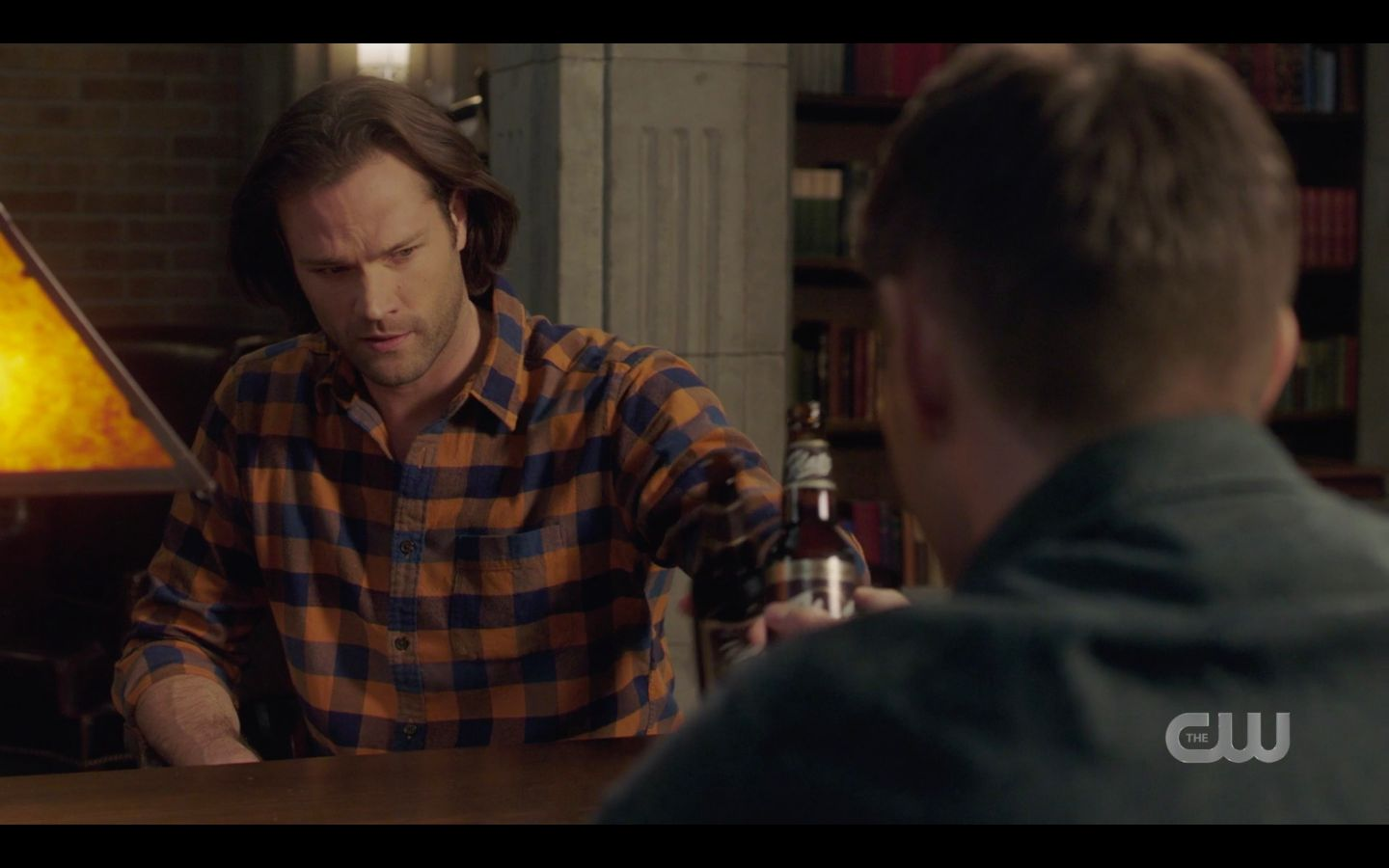 Sam Winchester drinking beer with Dean after return home SPN 14.18