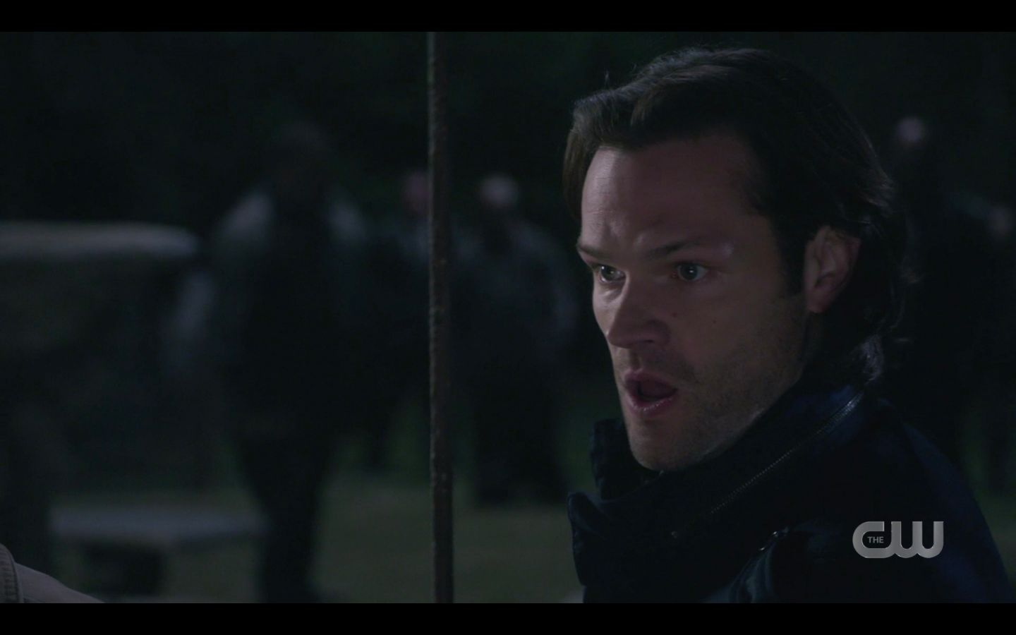 Sam Winchester read with stake to battle horde of zombie vampires monsters SPN 14.20