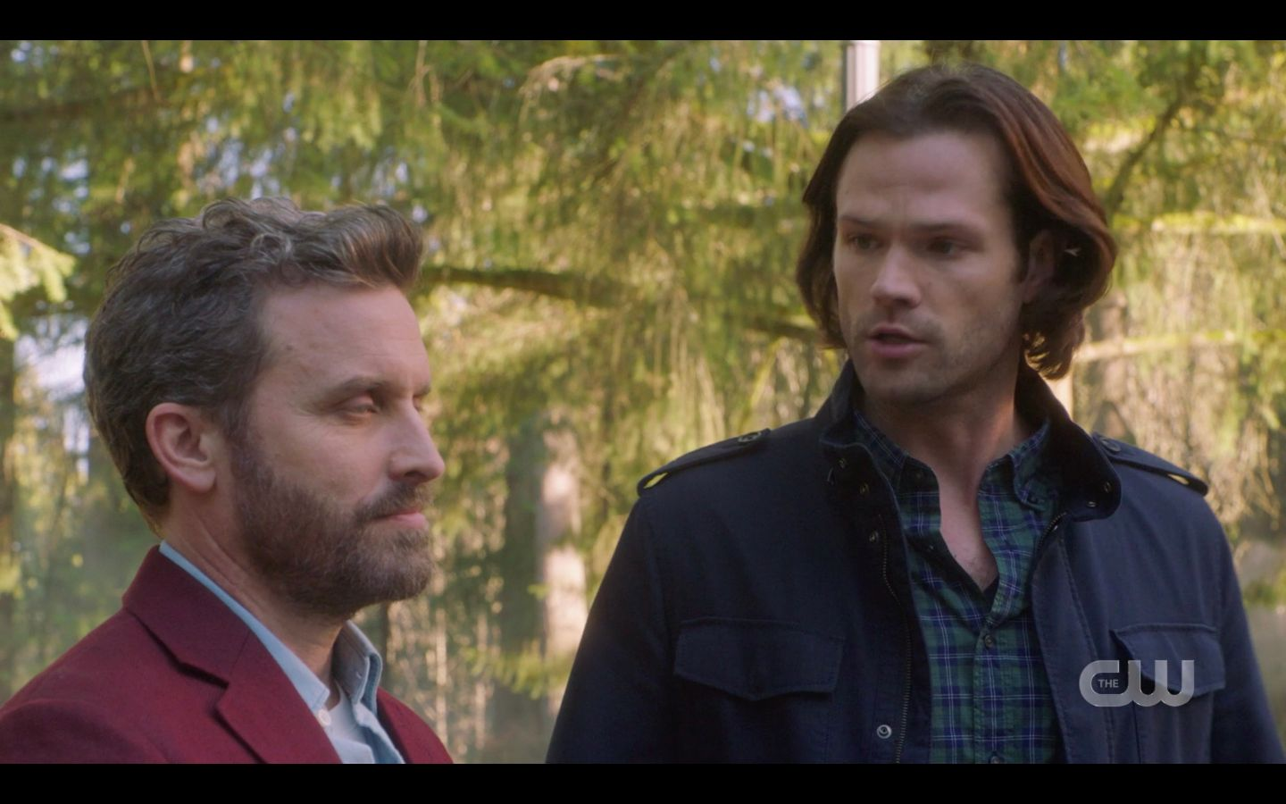 Sam Winchester to Chuck Are you enjoying this with Jack on knees SPN 14.20