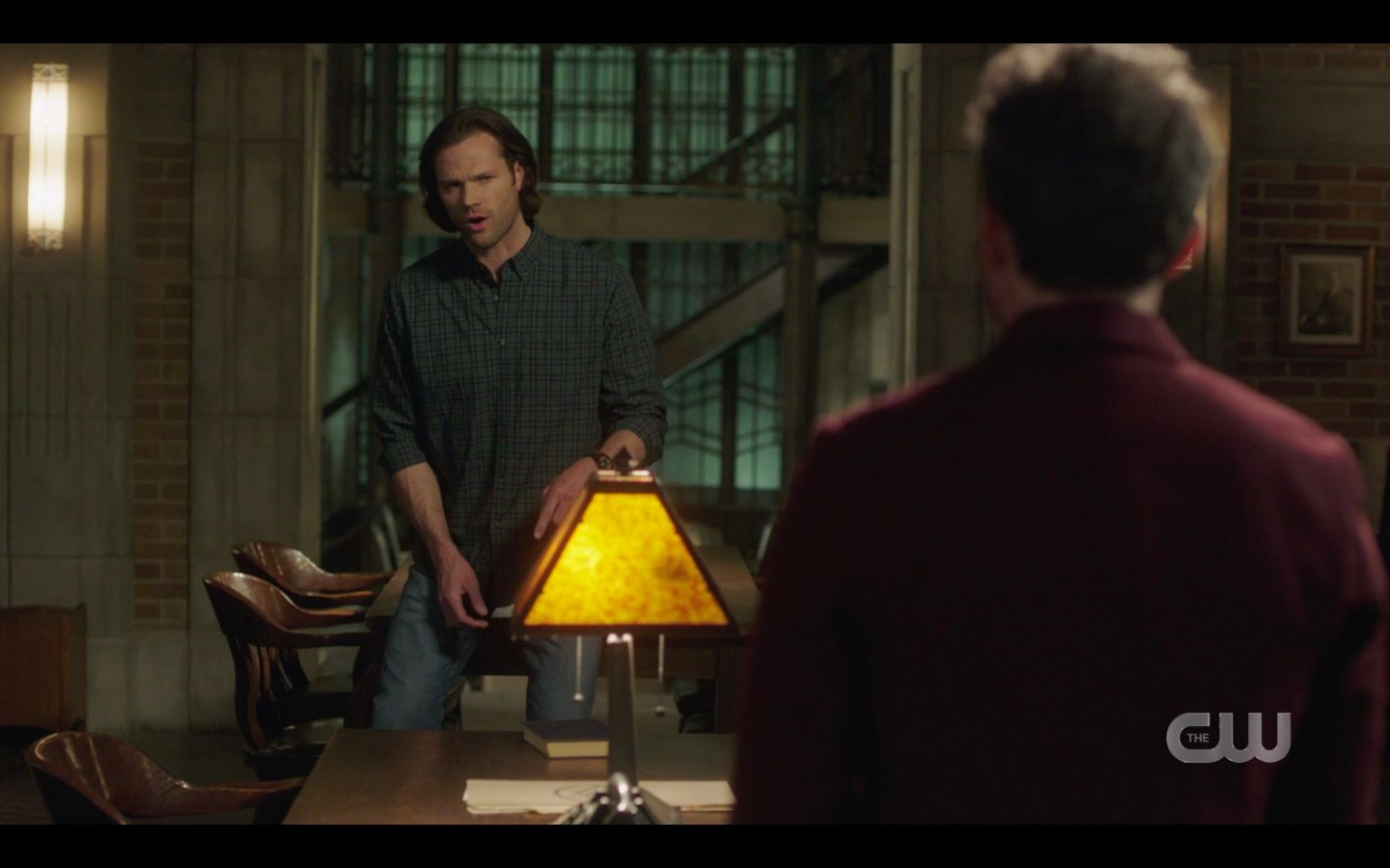 Sam Winchester with Chuck at house SPN 14.20