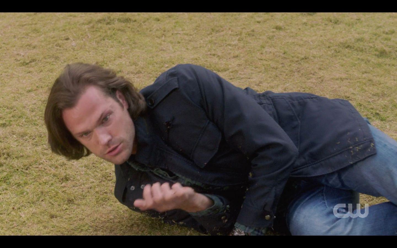 Wound Sam Winchester shoots Chuck in shoulder SPN 14.20