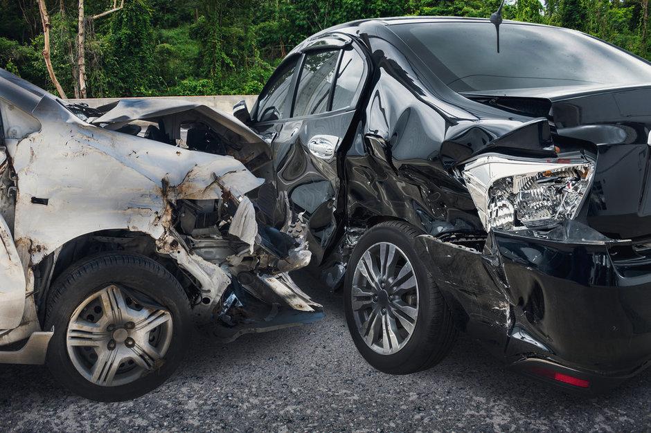 Autonomous car crashes.