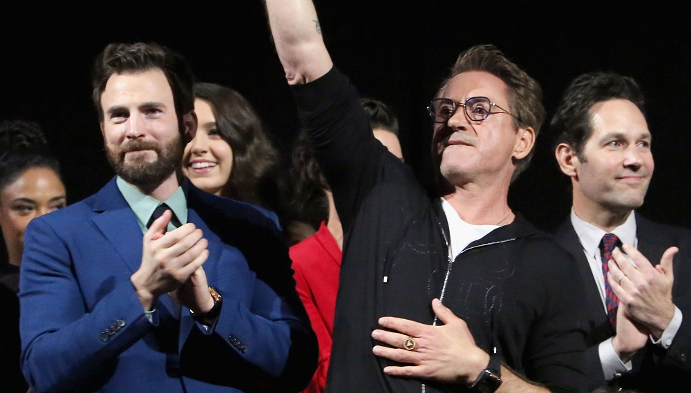 Avengers Endgame premiere with Chris Evans, Robert Downey, Jr and Paul Rudd.