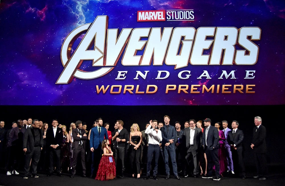 Avengers Endgame movie premiere in Hollywood with full cast.