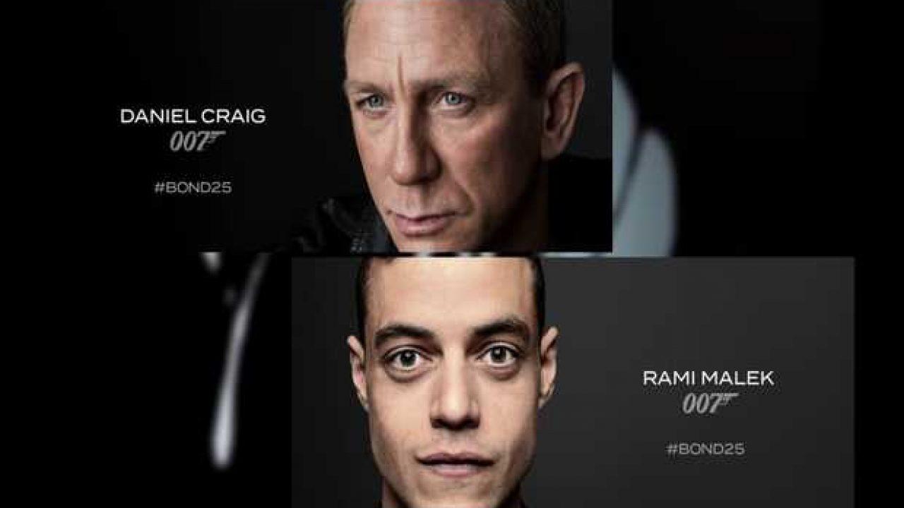 bond 25 brings daniel craig 007 against rami malik villain 2019 images