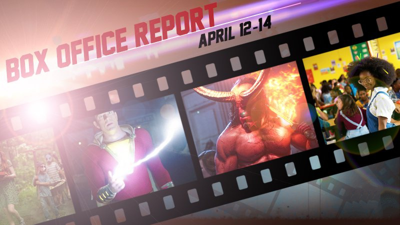 Box office report for Shazam! Little and Hellboy which bombed.