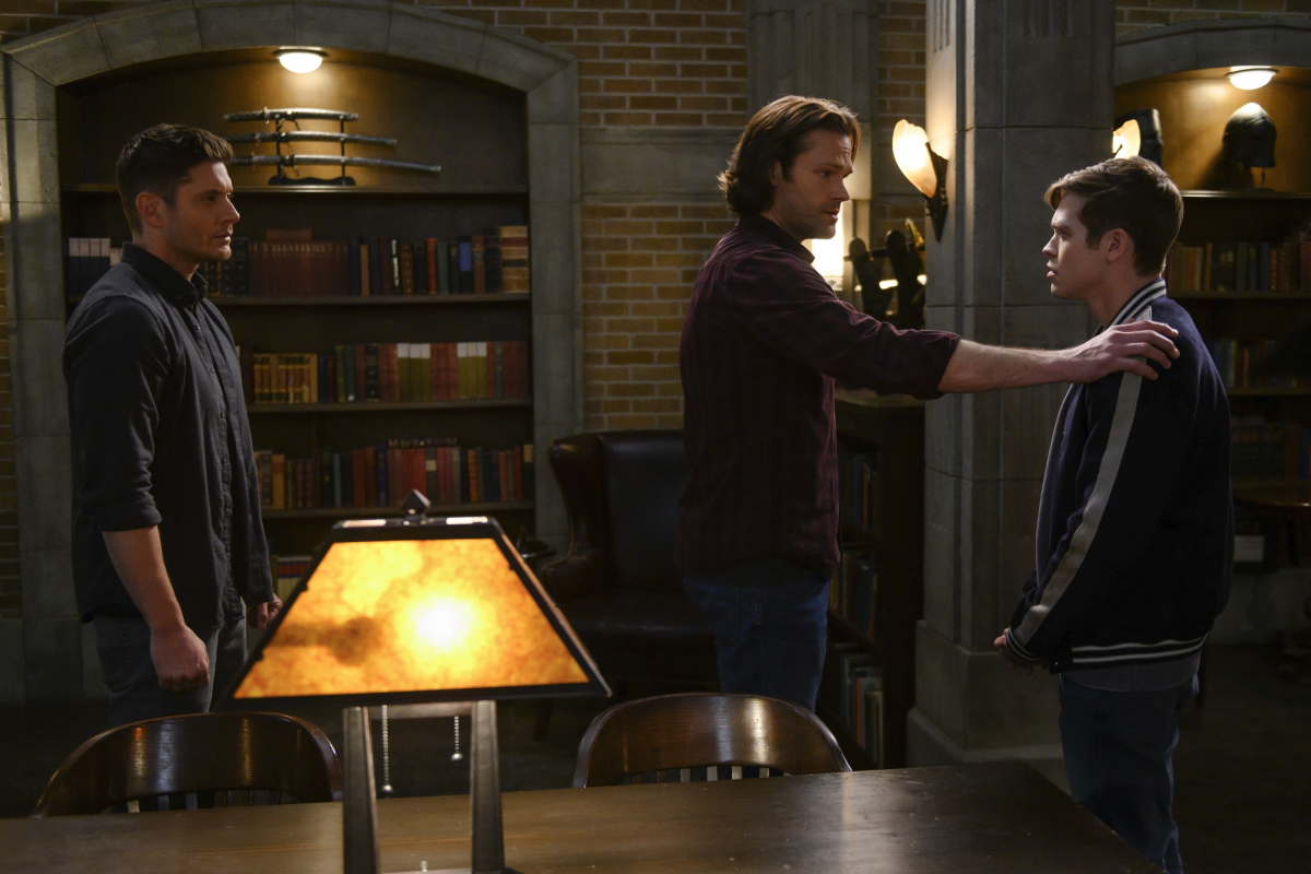dean sam winchester put jack in the box for 14.19 episode images