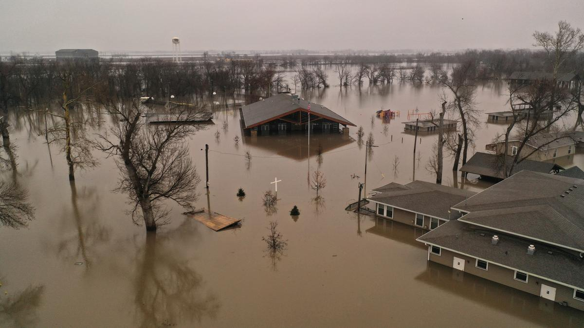 Drones being used to help flooding in middle America.