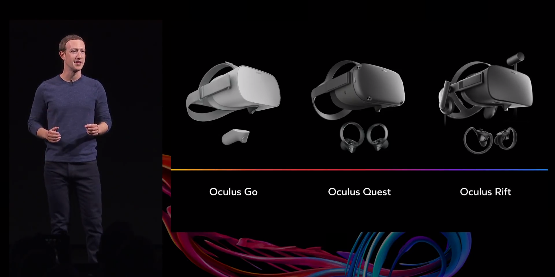 facebook mark zuckerberg unviels oculus vr headset choices