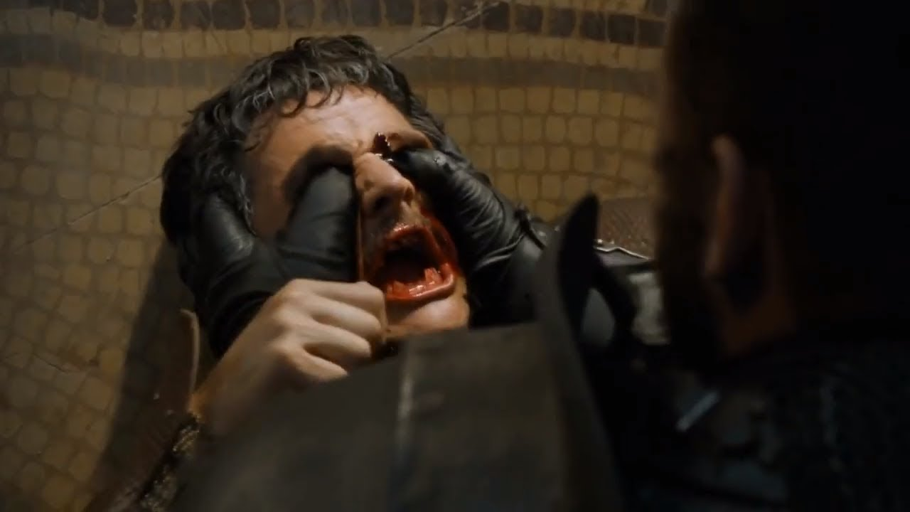 Game of Thrones Oberyn Martell head crushing death.