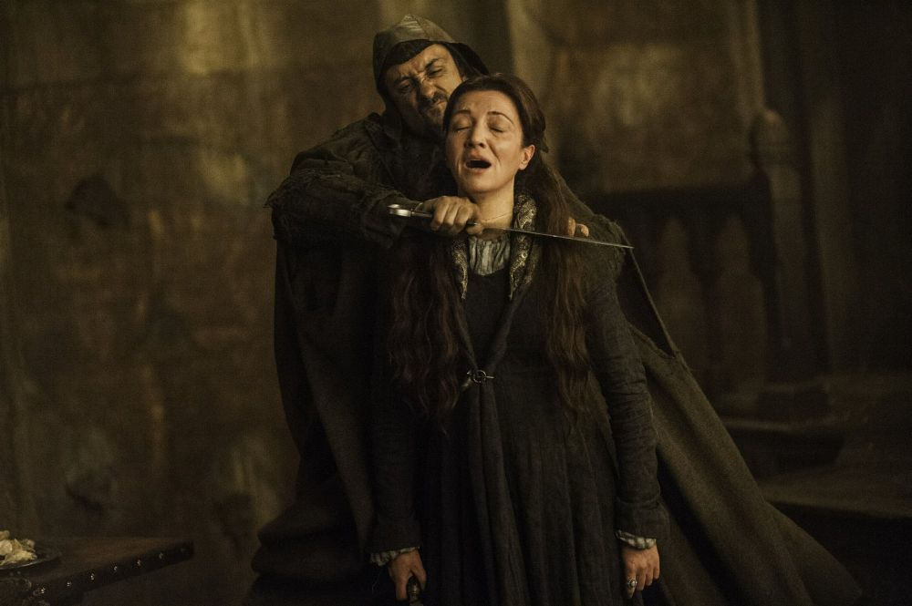 game of thrones catelyn stark red wedding throat slashed scene 2019