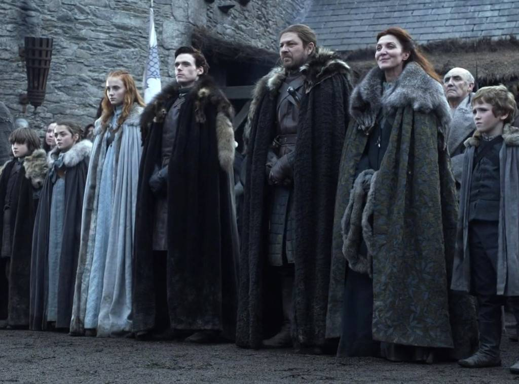Games of Thrones House of Stark family.