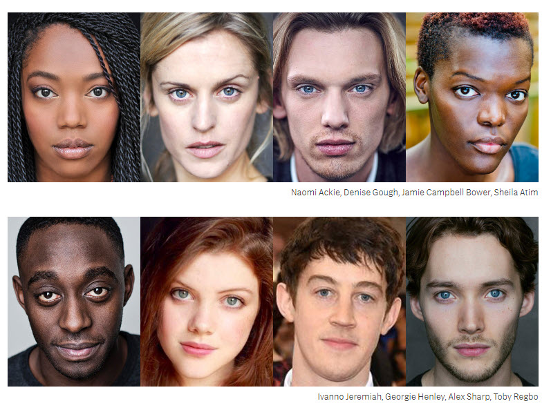 Game of Thrones main cast stars for prequel HBO Naomi Ackie, Jamie Campbell Bower.