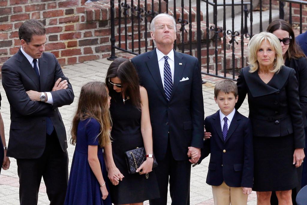 Joe Biden mourning death of son beau from brain cancer.