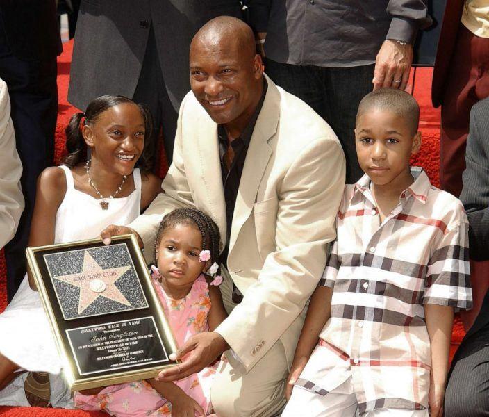 john singleton received hollywood walk of fame with children