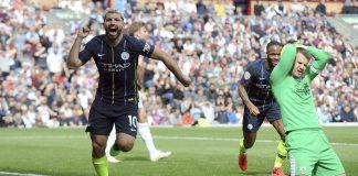 manchester city sergio aguero happy technology beats burnley premier league 2019