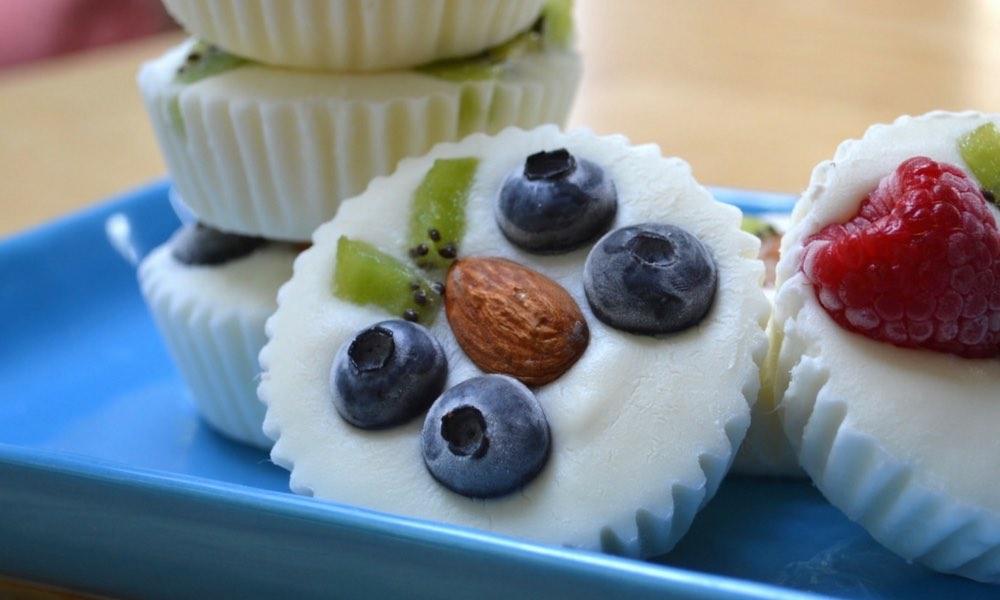 mouth watering yogurt with fruit healthy vegan