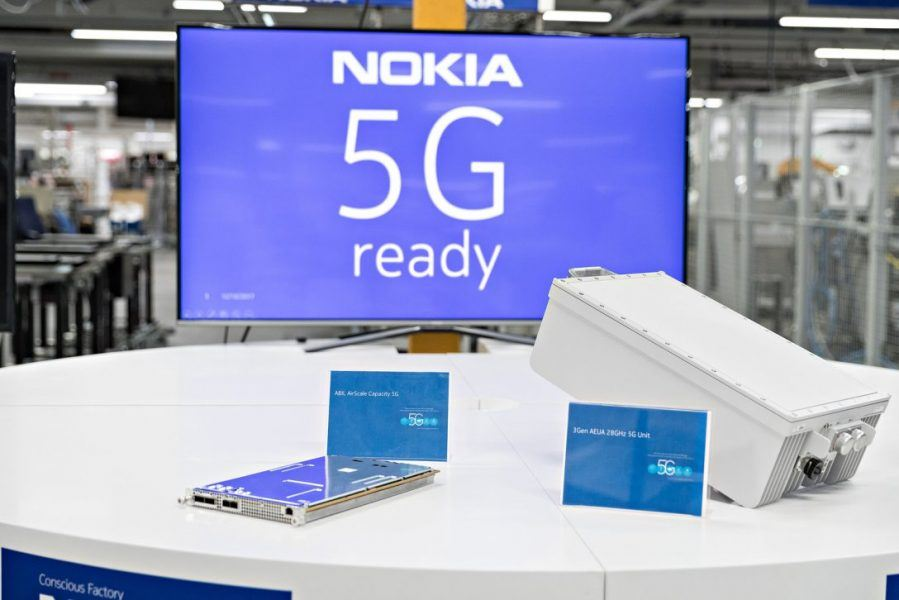 Nokia fighting tough 5G competition.