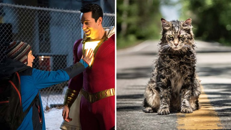 Shazam opens with Pet Semetary top top box office 2019.