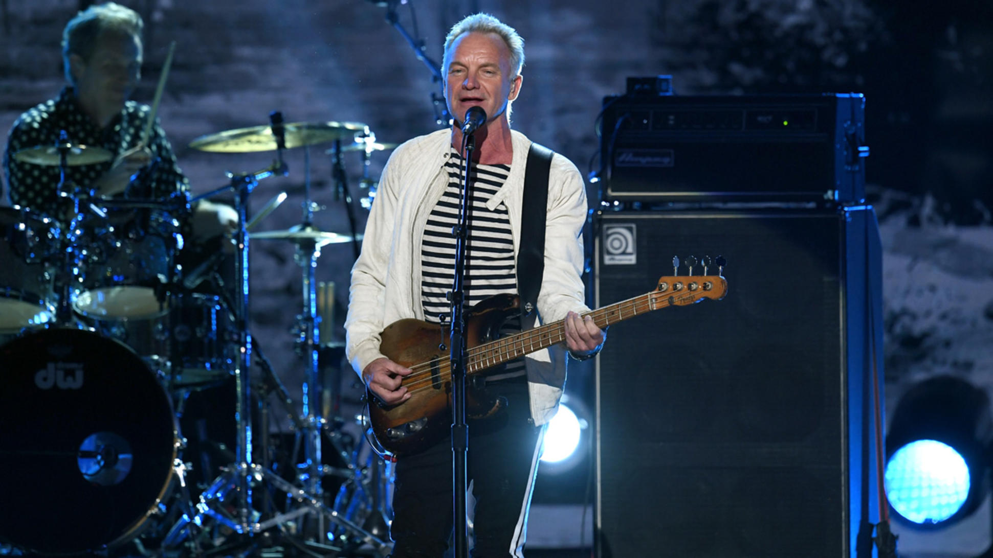 Sting Performing Shape of My Heart in Las Vegas My Songs MTTG Interview.