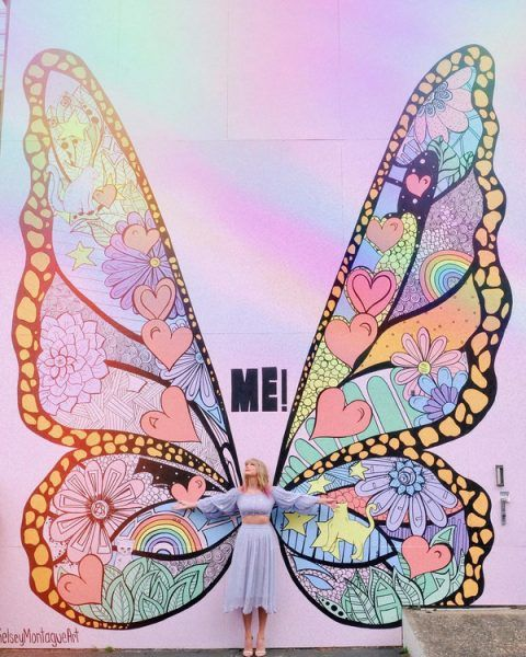Taylor Swift giant butterfly mural clue to upcoming project.