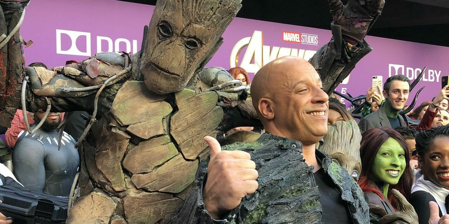 Vin Diesel at Avengers Endgame premiere.