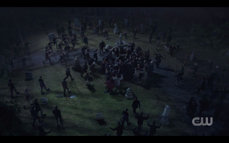 walking dead homage as sam dean winchester ready battle supernatural moriah