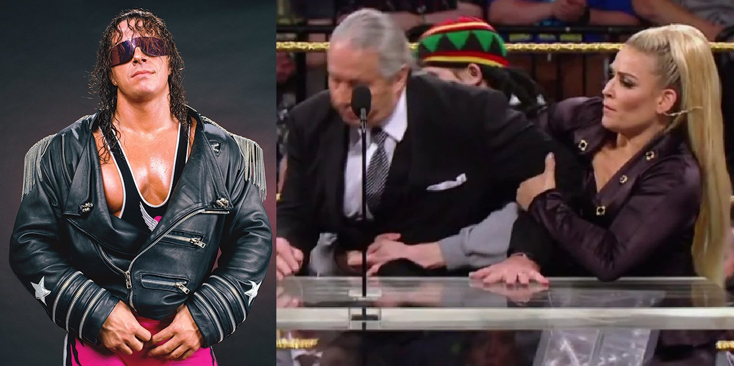 Bret Hart injured by fan during Hall of Fame ceremony.