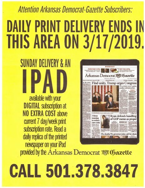 arkansas democrat gazette goes ipad of print edition 2019