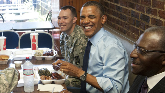 barack obama eating at bbq skipping memorial day service fake news 2019