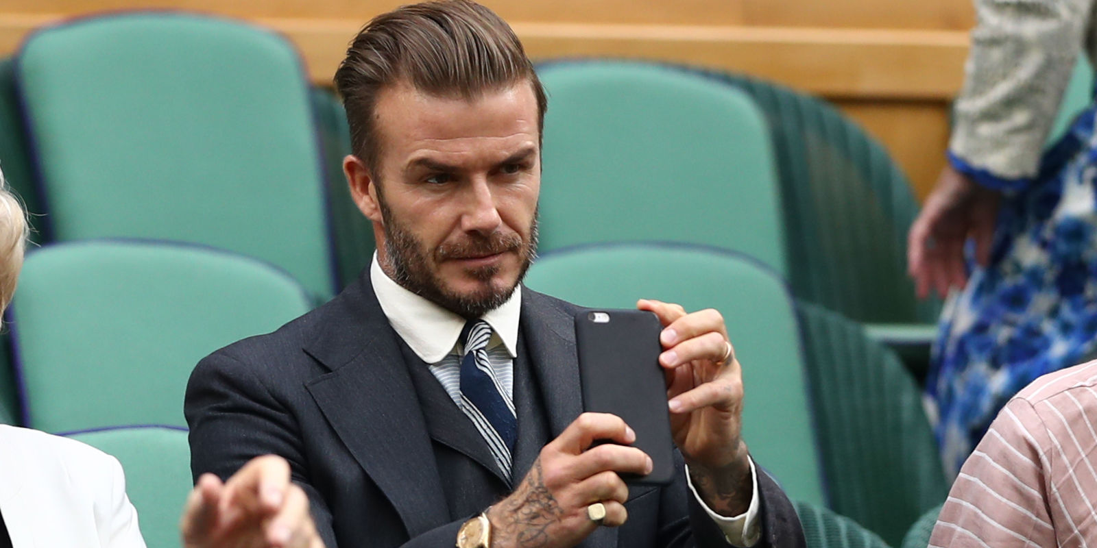 david beckham cellphone while driving gets him banned