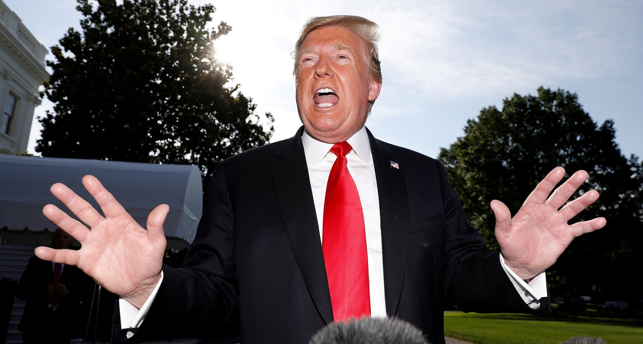 frustrated donald trump goes against business sense capitol hill for mexico tariff 2019 images