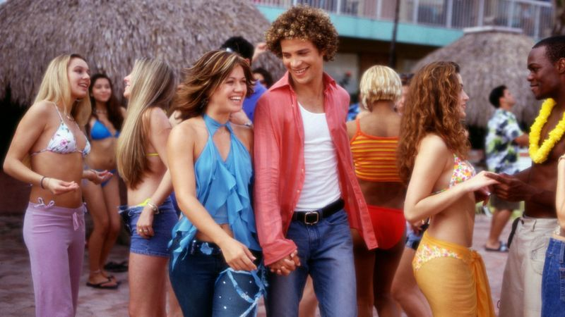 kelly clarkson with American Idol runner up justin guarini from justin to kelly bomb film