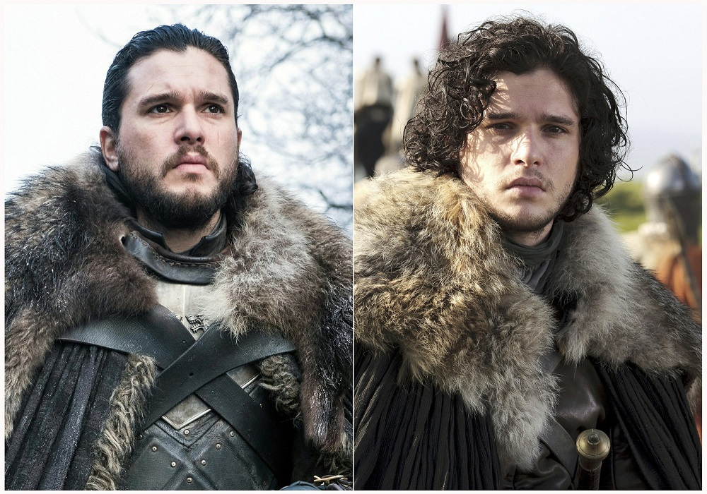 kit harington as jon snow in game of thrones before after 2019