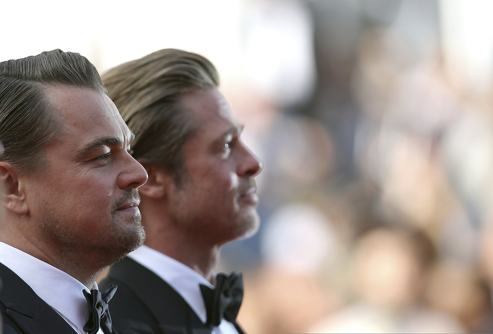 leonardo dicaprio sideways with brad pitt once upon a time in hollywood cannes