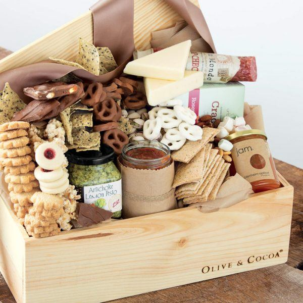 luxury food basket for new moms