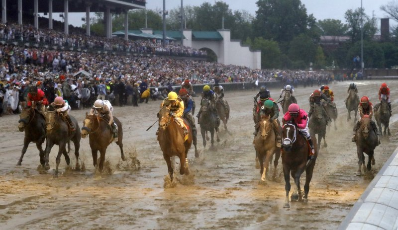 maximum security wins kentucky derby in mud but disqualified for country house