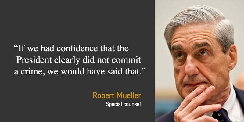 muller confident trump was not guilty statement