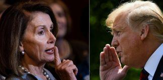 nancy pelosi brings up 25th amendment donald trump says crazy talk 2019 images