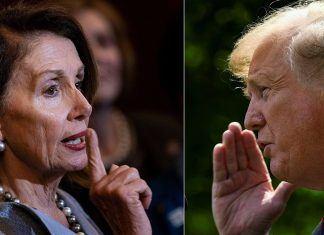 nancy pelosi brings up 25th amendment donald trump says crazy talk 2019 images