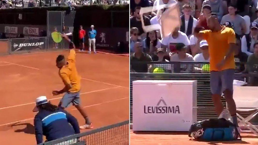 nick kyrgios tennis rages spart debate plus andy murray sword time 2019 images