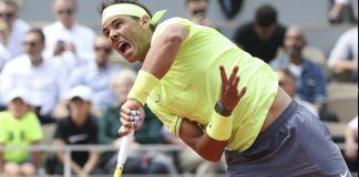 rafael nadal returns to hanfmann french open win 2019 images