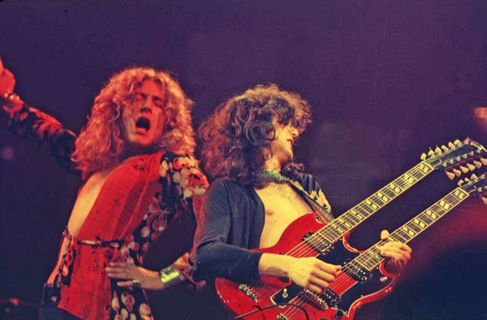 robert plant singing with jimmy page led zeppelin