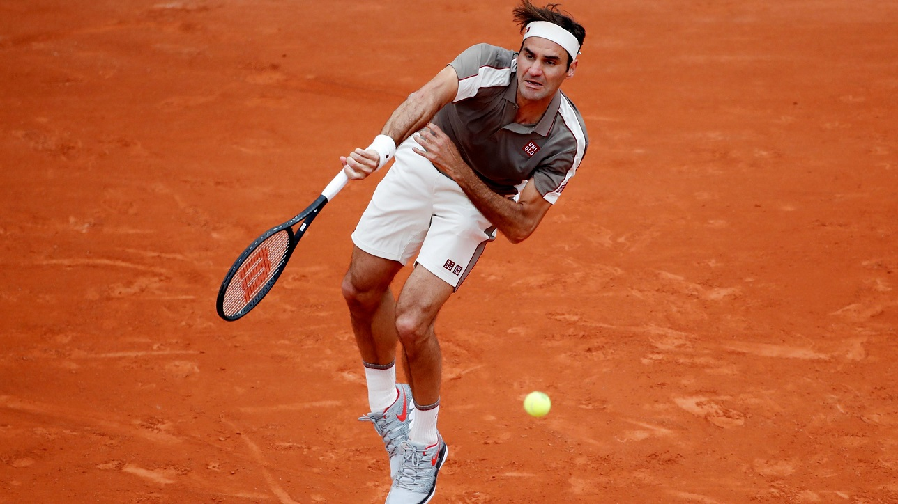 roger federer old man of the french open plus Naomi osaka fights 2019 images