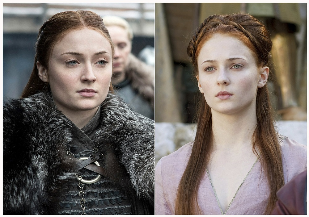 sophie turner as sansa stark in game of thrones before after 2019