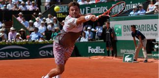 stan wawrinkas political chao serena williams returns italian open 2019 images